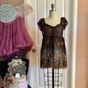 Tops - Lace sequin princess sleeves doll top